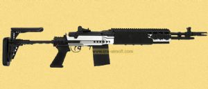M14 EBR Short silver Light weight by Kart M14 Ebr Silver